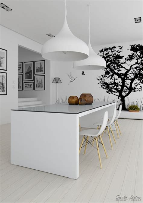 white decor black white interiors