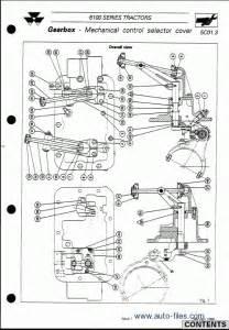 massey ferguson tractors 6100 series repair manuals wiring diagram electronic parts