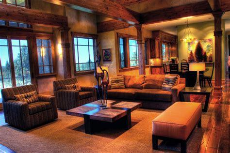 Livingroom Theater Portland rustic modern mountain retreat contemporary living
