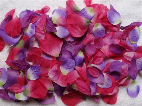Balloonable Petal Mawar Lembaran Artificial 200 silk petals begonia pink purple wedding flower