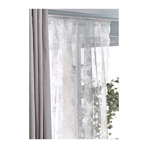 ikea lace curtains alvine spets lace curtains 1 pair off white lace lace