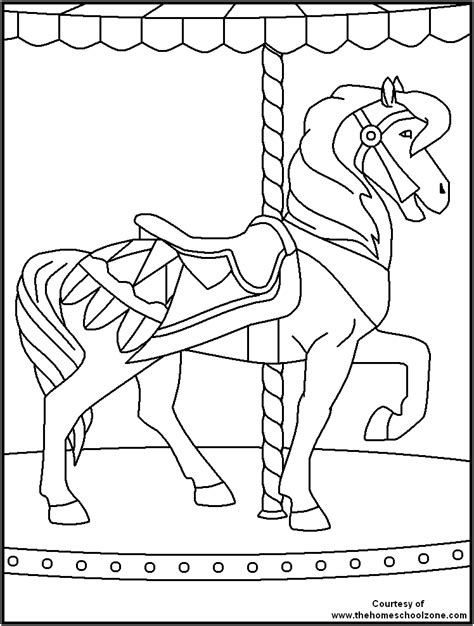 pony island coloring pages free printable coloring pages carnival coloring page