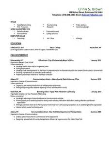 College Senior Resume Examples Resume And Career Plan On Behance