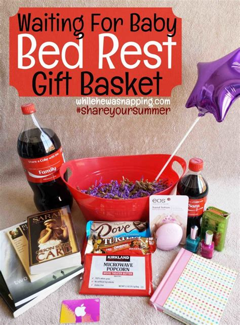 things to do while on bed rest waiting for baby bed rest gift basket while he was napping