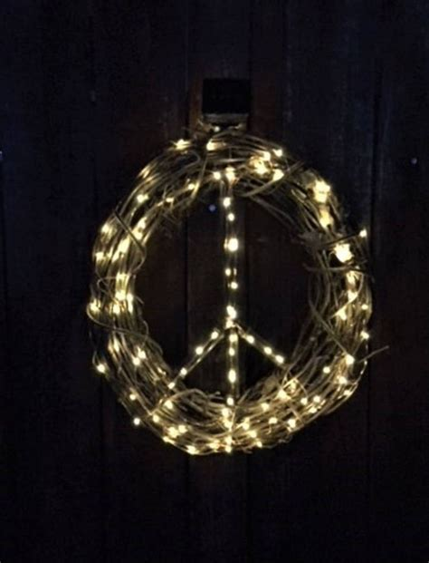 lighted peace sign wreath 36 best cool nature stuff on esty images on