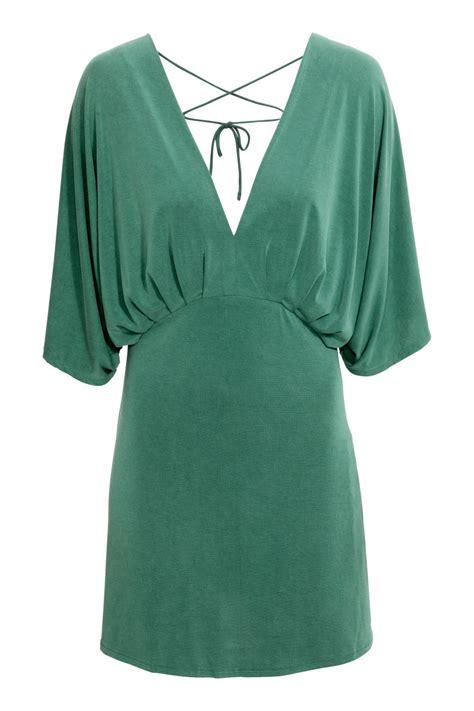 H M Jersey Comfortable jersey dress green sale h m us