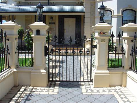 front house fence design home fences designs home design ideas
