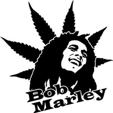 Large Wall Decals For Bedroom bob marley weed peace decal graphic wall sticker