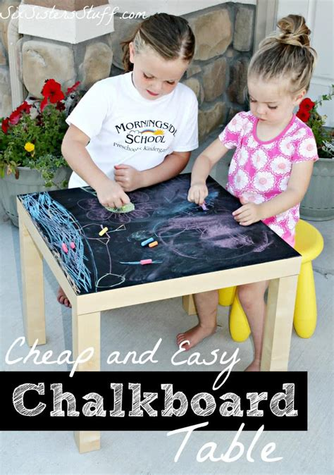 chalkboard paint cheap cheap and easy diy chalkboard table six stuff