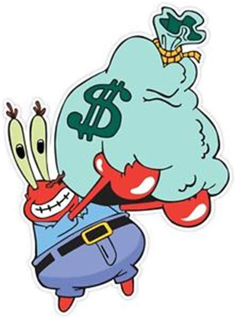 Spongebob Wall Mural mr krabs spongebob sponge bob money funny vinyl sticker