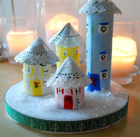 Halloween Crafts Using Toilet Paper Rolls - make a recycled cardboard tube christmas village dollar store crafts