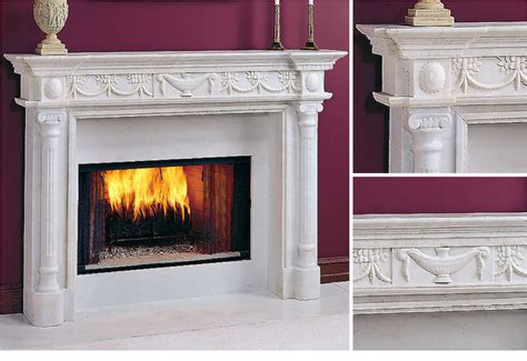 athena marble fireplace mantel midcentury fireplaces