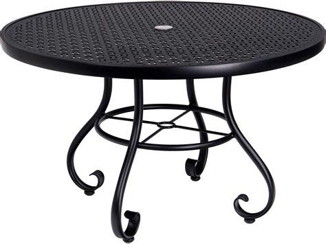 woodard ramsgate aluminum   lattice top table