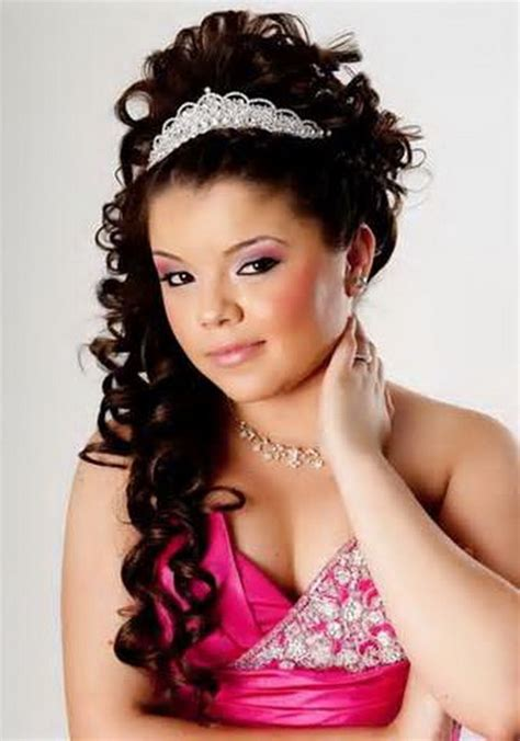 Quinceanera Hairstyles With Curls And Tiara by Quinceanera Hairstyles With Curls And Tiara