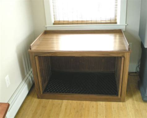 dog crate bench seat double dog crate with window seat top animals pinterest