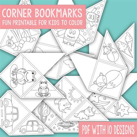 corner bookmark templates free corner bookmarks for to color pdf file