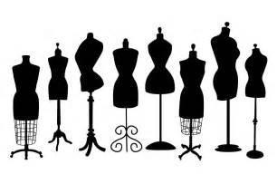 Vintage dress form clip art objects on creative market