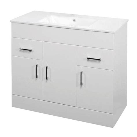 Gloss White Vanity Unit by Minimalist White Gloss Vanity Unit 600 800 1000mm