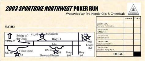 run punch card template motorcycle run basics