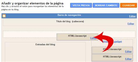 cabecera javascript html a 241 adir gadgets debajo de la cabecera of