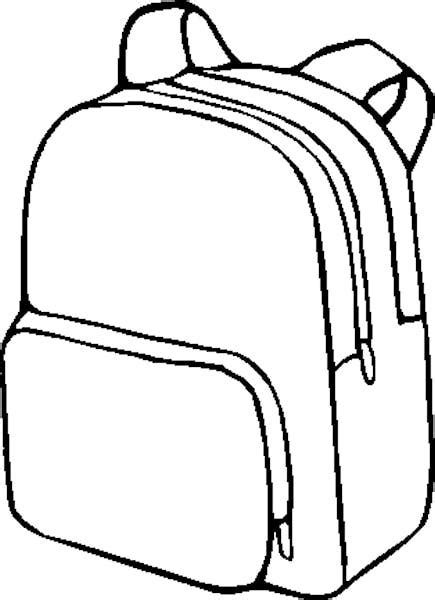 backpack coloring page backpack clipart clipartion