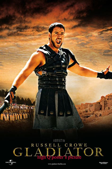 gladiator film questions gladiator vinyl banner russell crowe 27x40 poster oscar a