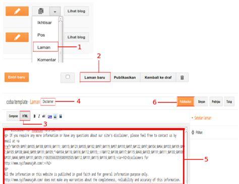 cara membuat oralit adalah cara membuat disclaimer blog dengan mudah