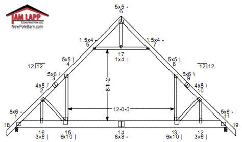 Design My Own Floor Plan Online Free by Pole Barn Roof Truss Designs Tam Lapp Construction Llc