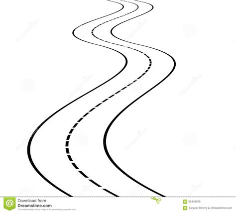Coloring Page Road by Road Clipart Outline Pencil And In Color Road Clipart