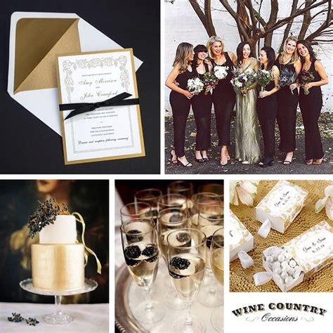 black white gold wedding theme wedding