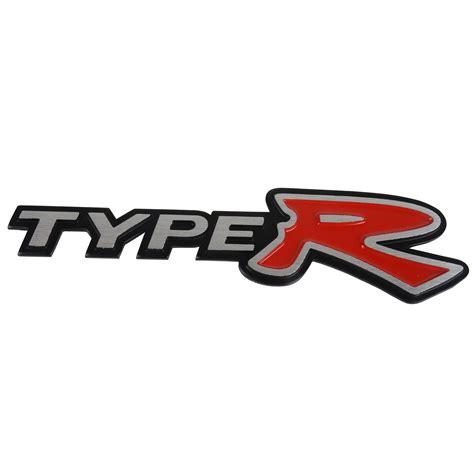 Emblem Type R 3d alloy metal type r typer logo car emblem badge sticker