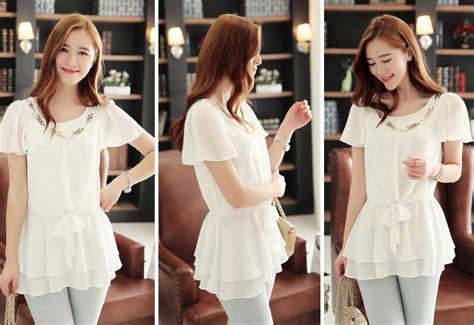 Atasan Black And White Murah model baju terbaru atasan sifon black models picture