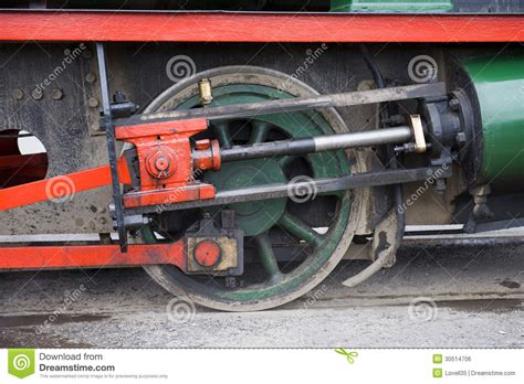 Wheels X Trayn Green and green steam piston royalty free stock image
