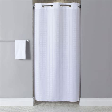 Shower Curtains For Shower Stalls by Hookless Hbh43lit01sx White Stall Size Litchfield Shower