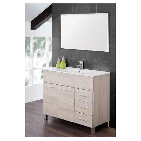 mobile bagno 100 cm mobile bagno 100 cm moderno lavabo e specchio legno bianco