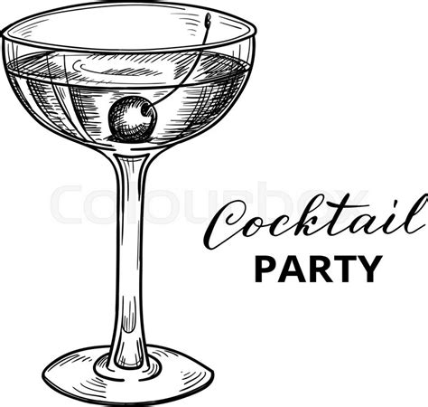 cocktail sketch cocktail vector illustration cocktail
