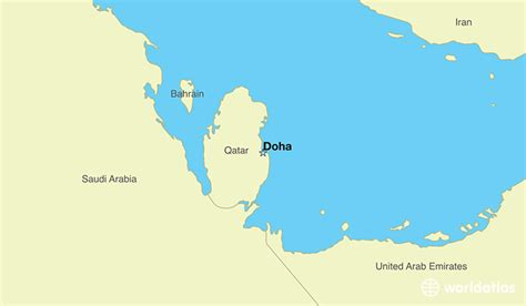 where is doha on world map where is qatar where is qatar located in the world