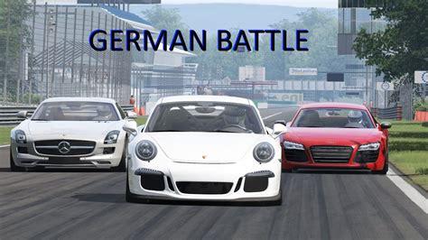 Audi R8 Vs Porsche Gt3 by Porsche 911 991 Gt3 Vs Audi R8 Plus Vs Mercedes Sls Amg
