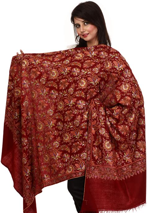 Hm Scarf Scarves Pashmina Besar pashmina shawl from kashmir with jafreen embroidery all
