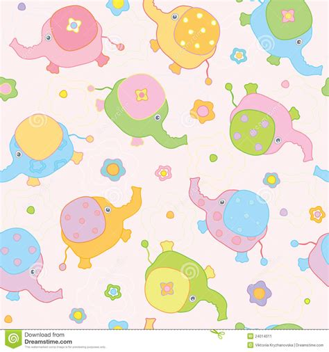 baby cute wallpaper vector cute background small baby elephants stock vector