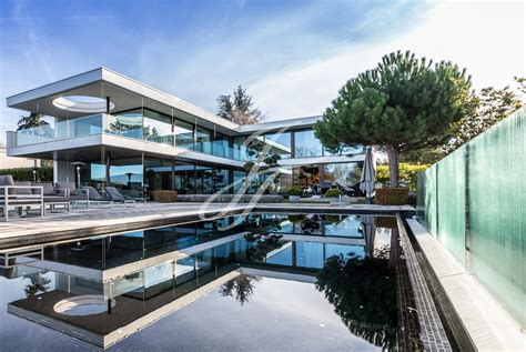 ultra modern house situated in geneva switzerland contemporary villa in ani 232 res geneva finest residences