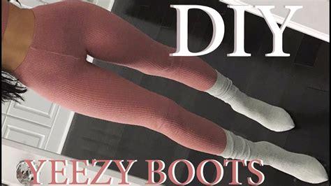 diy sock diy yeezy inspired sock boots carli bybel makeup