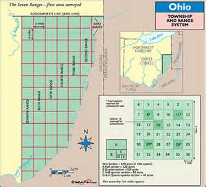 california township and range map ohio historical map range and township system by maps