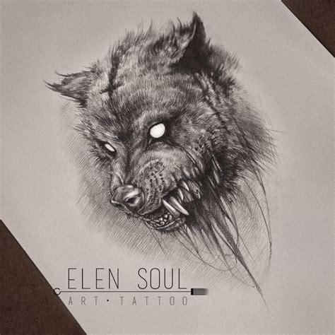 wolf head tattoo wolf design
