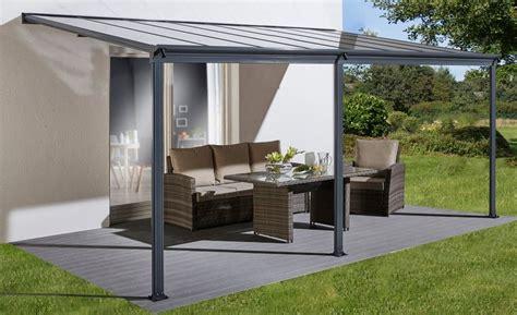 metall pavillon befestigen konifera terrassendach bxt 495x300 cm kaufen otto
