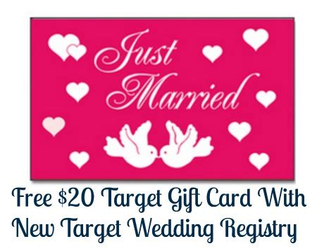 free 20 target gift card with new target wedding registry