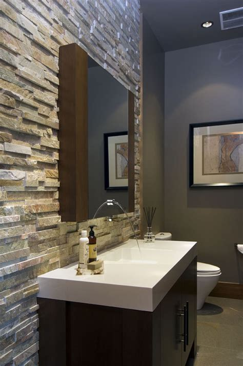 stacked stone bathroom is this stack stone easy to maintain in a bathroom how do