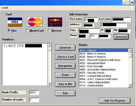 credit card numbers generator with cvv 2015