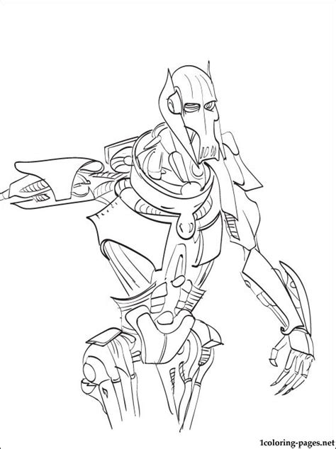 Star Wars General Grievous Coloring Page Coloring Pages General Coloring Pages