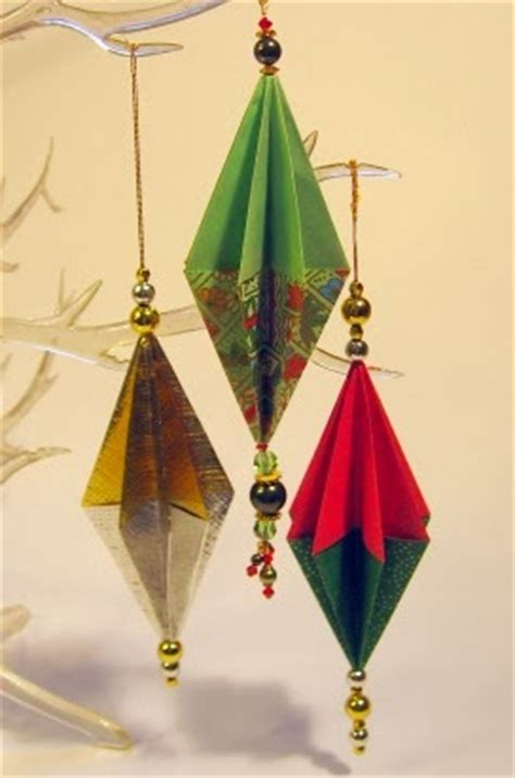 Origami Tree Decorations - origami maniacs origami ornament for
